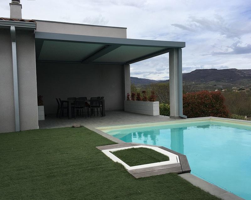 pergola bioclimatique alba la romaine 26 dr me arc. Black Bedroom Furniture Sets. Home Design Ideas